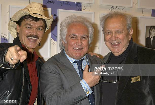Randy Jones Tony Shafrazi and Ron Galella during Opening Reception and Book Launch for Warhol's World at Zwirner and Wirth Gallery in New York New...