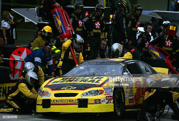 Randy LaJoie pits his Dollar General Store Chevrolet during the Telcel Mexico 200 Nascar Busch Series Race at the Autrodromo Hermanos Rodriguez Race...