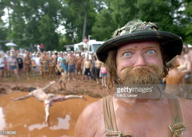 Randy LBow Tidwell poses during the Seventh Annual Summer Redneck Games on July 6 2002 in East Dublin Georgia Thousands of people flock to the event...