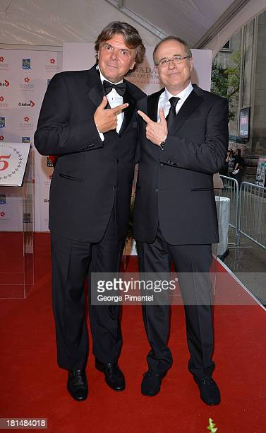 Randy Lennox and Bob Ezrin attend Canada's Walk Of Fame Ceremony at The Elgin on September 21 2013 in Toronto Canada
