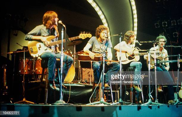 Randy Meisner, Don Henley, Glenn Frey and Bernie Leadon of The Eagles perform on Popgala TV concert on 10th March 1973 in Voorburg, Netherlands