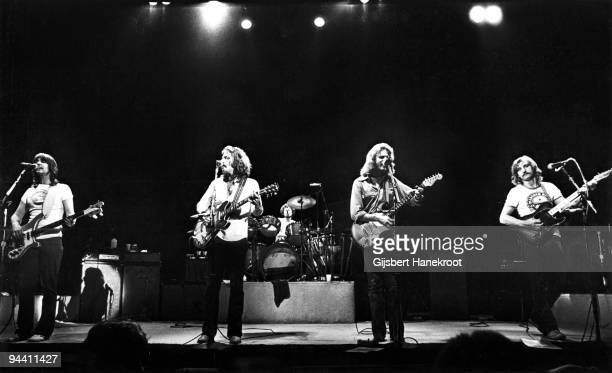 Randy Meisner, Glenn Frey, Don Henley, Don Felder and Joe Walsh of The Eagles perform on stage at Ahoy on May 11th 1977 in Rotterdam, Netherlands.