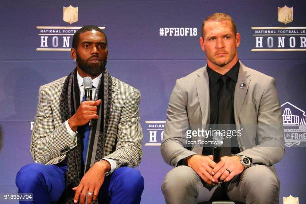 Randy Moss and Brian Urlacher selected to the Pro Football Hall of Fame at NFL Honors during Super Bowl LII week on February 3 at Northrop at the...