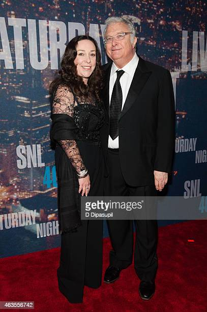 Randy Newman and wife Gretchen Preece attend the SNL 40th Anniversary Celebration at Rockefeller Plaza on February 15 2015 in New York City
