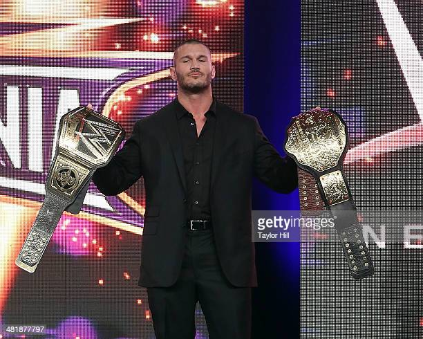 Randy Orton attends the WrestleMania 30 press conference at the Hard Rock Cafe New York on April 1 2014 in New York City