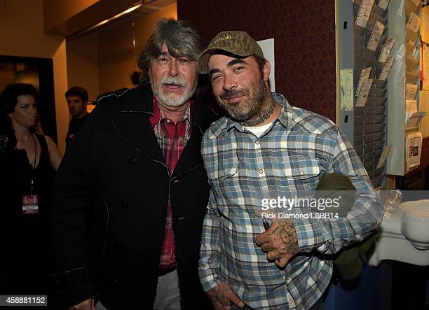 Randy Owen and Aaron Lewis attend One More For The Fans Celebrating the Songs Music of Lynyrd Skynyrd at The Fox Theatre on November 12 2014 in...