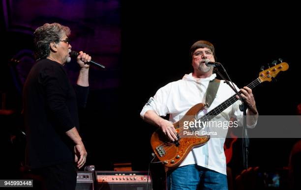 Randy Owen and Teddy Gentry of Alabama perform on stage at The Fox Theatre on April 13 2018 in Atlanta Georgia
