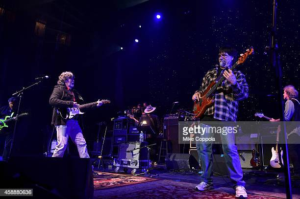 Randy Owen and Teddy Gentry of Alabama perform onstage at One More For The Fans Celebrating the Songs Music of Lynyrd Skynyrd at The Fox Theatre on...