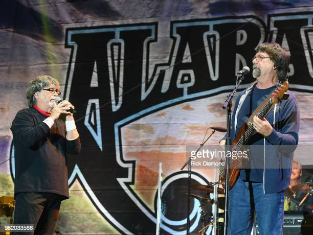 Randy Owen and Teddy Gentry of Alabama performs during Kicker Country Stampede Day 2 at Tuttle Creek State Park on June 22 2018 in Manhattan Kansas