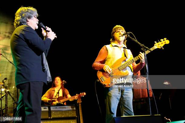 Randy Owen and Teddy Gentry of the country music band Alabama performs in concert at Etess Arena on January 19 2019 in Atlantic City New Jersey