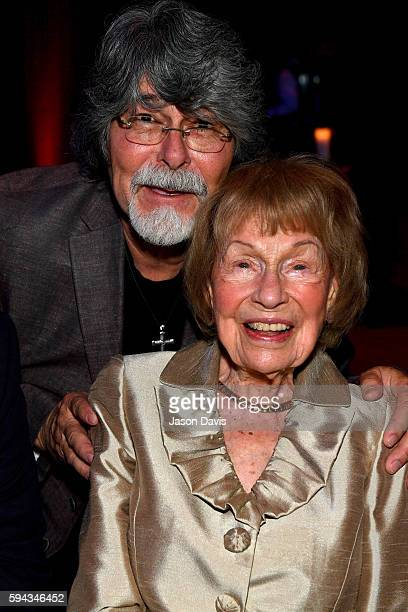 Randy Owen of the band Alabama and Country Music Hall of Fame member Jo WalkerMeador attend the debut of the 'Alabama Song of the South' exhibition...