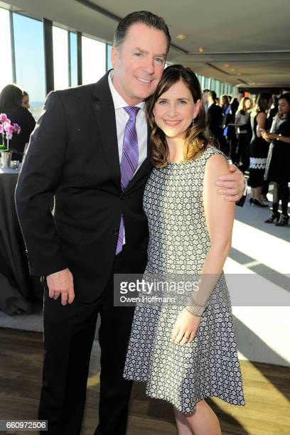 Randy Pope and Kellie Martin at Crown Media's Upfront Event at Rainbow Room on March 29, 2017 in New York City.
