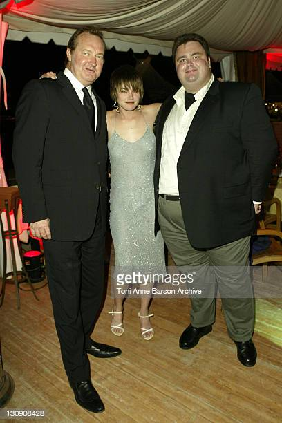 Randy Quaid Alison Folland and Michael J Brody during 2003 Cannes Film Festival 'Milwaukee Minnesota' Party at The Man Ray Beach at Man Ray Beach in...