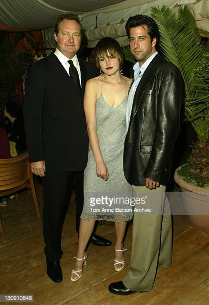 Randy Quaid Alison Folland and Troy Garity during 2003 Cannes Film Festival 'Milwaukee Minnesota' Party at The Man Ray Beach at Man Ray Beach in...