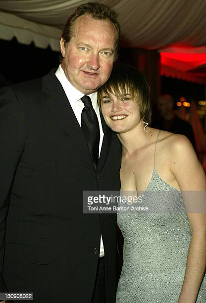 Randy Quaid and Alison Folland during 2003 Cannes Film Festival 'Milwaukee Minnesota' Party at The Man Ray Beach at Man Ray Beach in Cannes France