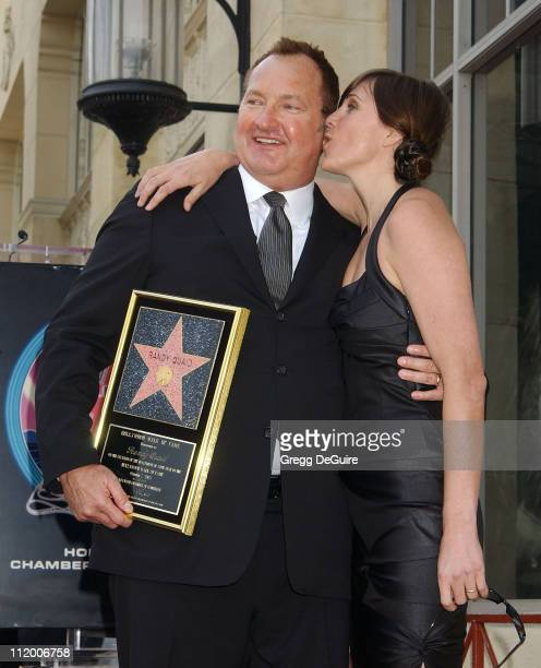 Randy Quaid and wife Evi Quaid during Randy Quaid Honored With A Star On The Hollywood Walk Of Fame at Hollywood Blvd in Hollywood California United...
