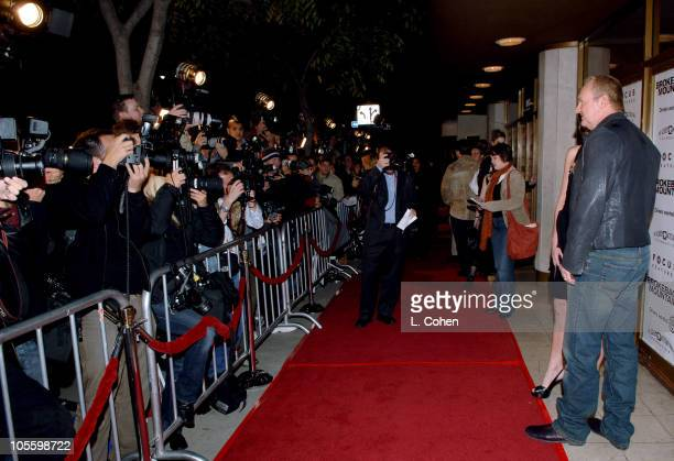 Randy Quaid during Focus Features' Brokeback Mountain Los Angeles Premiere Red Carpet at Mann National Theatre in Westwood California United States