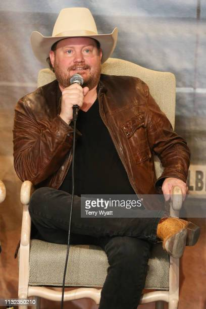 Randy Rogers of the Randy Rogers Band attends a special presentation of the band's new studio album Hellbent at BMI on February 26 2019 in Nashville...