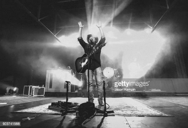 Randy Rogers of The Randy Rogers Band performs at Marathon Music Works on February 23 2018 in Nashville Tennessee