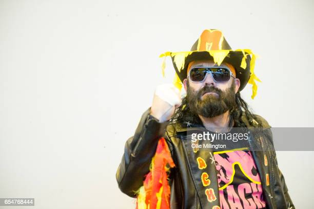Randy Savage cosplayer during the MCM Birmingham Comic Con at NEC Arena on March 18 2017 in Birmingham England