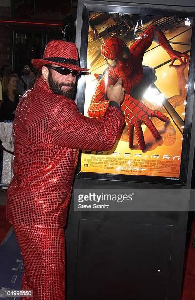 Randy Savage during SpiderMan Premiere at Mann Village in Westwood California United States