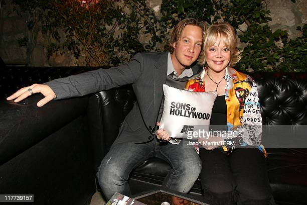 Randy Spelling and Candy Spelling during Sons of Hollywood Premiere Party at Les Deux Hollywood in Hollywood California United States