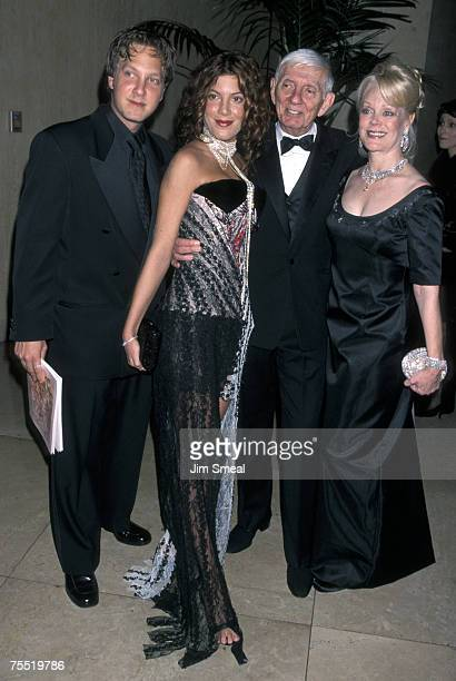 Randy Spelling Tori Spelling Aaron Spelling and Candy Spelling at the Beverly Hills Hilton Hotel in Beverly Hills California