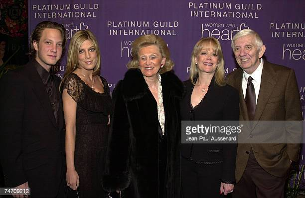 Randy Spelling Tori Spelling Barbara Davis Aaron Spelling Candy Spelling at the Sotheby's in Beverly Hills California
