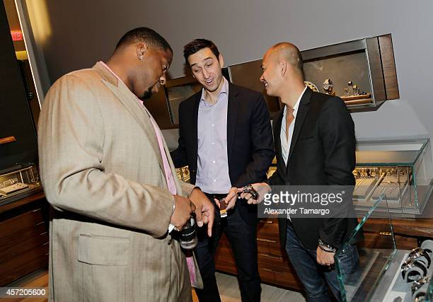 Randy Starks Adam Cohen and Travis Ngo are seen at David Yurman InStore Shopping Event Hosted by Randy Starks To Benefit The Florida Breast Cancer...