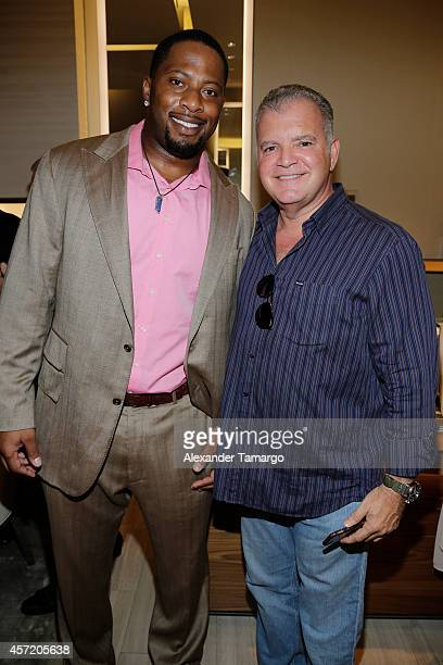 Randy Starks and Enrique Monasterio are seen at David Yurman InStore Shopping Event Hosted by Randy Starks To Benefit The Florida Breast Cancer...