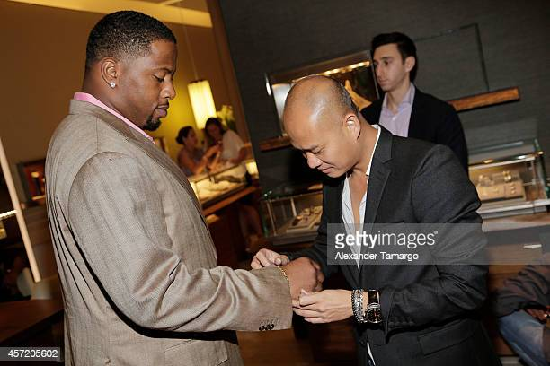 Randy Starks and Travis Ngo are seen at David Yurman InStore Shopping Event Hosted by Randy Starks To Benefit The Florida Breast Cancer Foundation on...