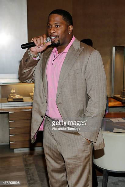 Randy Starks speaks at David Yurman InStore Shopping Event Hosted by Randy Starks To Benefit The Florida Breast Cancer Foundation on October 13 2014...