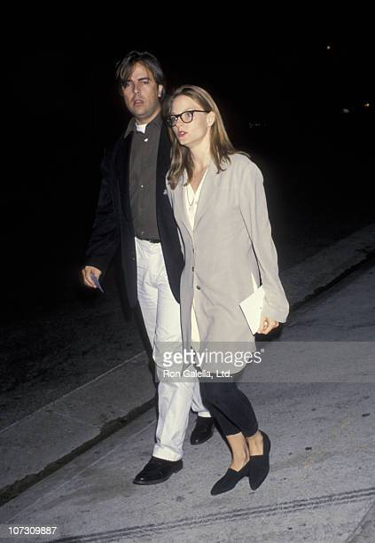 Randy Stone and Jodie Foster during Sting's After Concert Party at Spago's in West Hollywood California United States