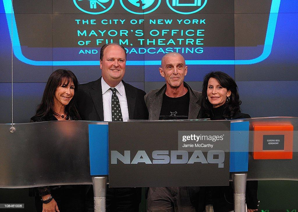 63rd Annual Tony Awards Representatives Ring NASDAQ Closing Bell