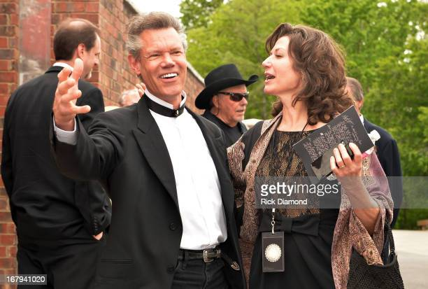Randy Travis and Amy Grant attend the funeral service for George Jones at The Grand Ole Opry on May 2 2013 in Nashville Tennessee Jones passed away...