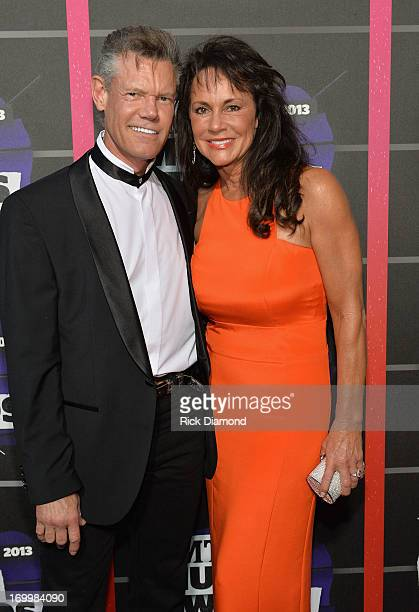 Randy Travis and Mary Beougher attend the 2013 CMT Music awards at the Bridgestone Arena on June 5 2013 in Nashville Tennessee