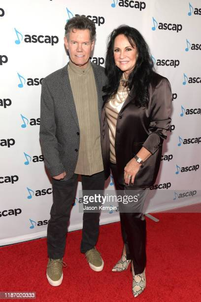 Randy Travis and Mary Davis attend the 57th Annual ASCAP Country Music Awards on November 11 2019 in Nashville Tennessee