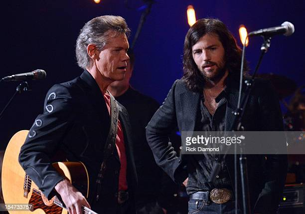 Randy Travis and Scott Avett Avett Brothers perform during CMT Crossroads The Avett Brothers And Randy Travis tape at The Factory Liberty Hall in...