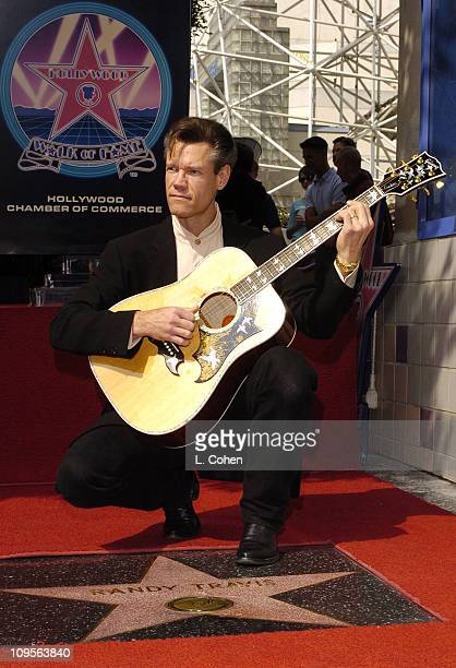 Randy Travis during Randy Travis Honored with a Star on the Hollywood Walk of Fame for His Achievements in Music at 7021 Hollywood Blvd in Hollywood...