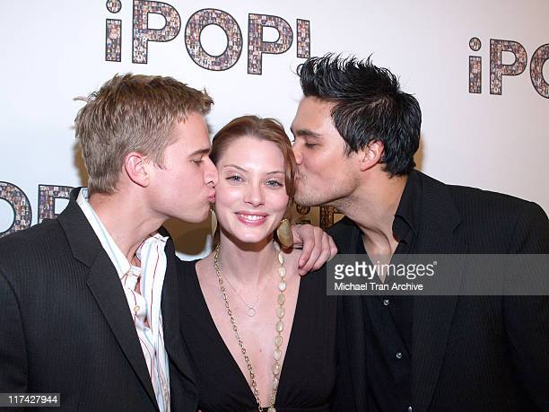 Randy Wayne April Bowlby and Michael Copon during 2006 iPOP Awards Backstage at Century Plaza Hotel Hotel in Century City California United States