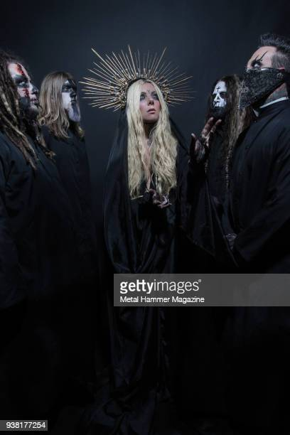 Randy Weitzel Kent Diimmel Maria Brink Chris Howorth and Travis Johnson of American metal group In This Moment photographed in Worcester...