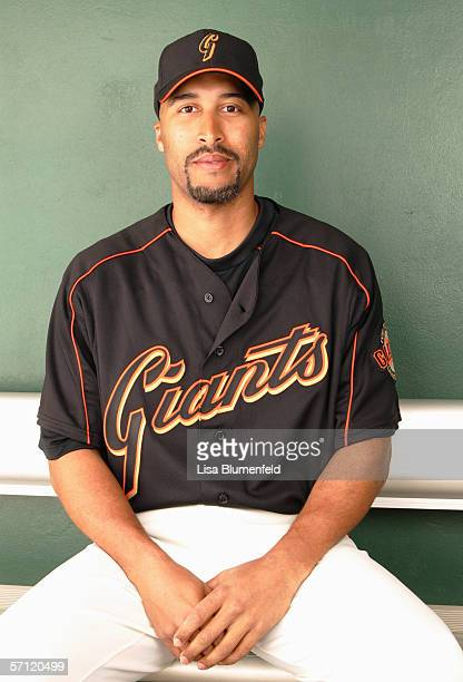 Randy Winn of the San Francisco Giants poses for a portrait during the San Francisco Giants Photo Day at Scottsdale Stadium on February 28 2006 in...
