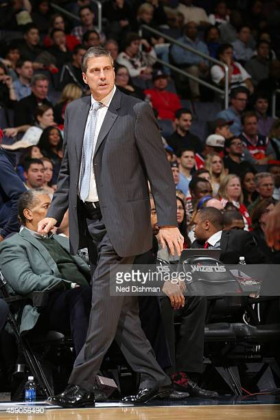 Randy Wittman of the Washington Wizards during the game on November 15 2014 at Verizon Center in Washington DC NOTE TO USER User expressly...
