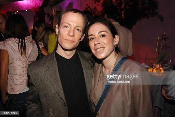 Randy Wolf and Amy Wolf attend SWAROVSKI hosts a party to present their POETIC NIGHT Collection at The Rink at Rockefeller Center on May 3 2006 in...