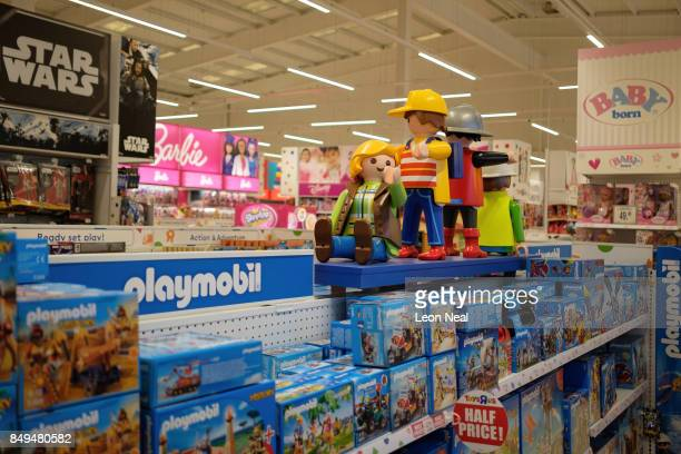 A range of childrens toys are displayed in a branch of the toy store Toys R Us on September 19 2017 in Luton England The company has struggled to...