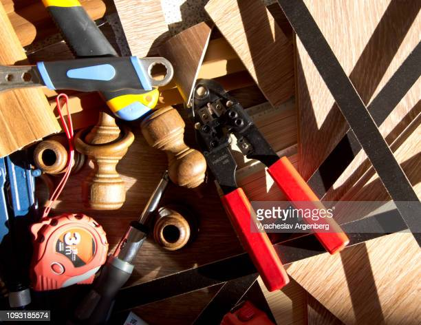 a range of home furnishing accessories, tools and fittings - argenberg ストックフォトと画像