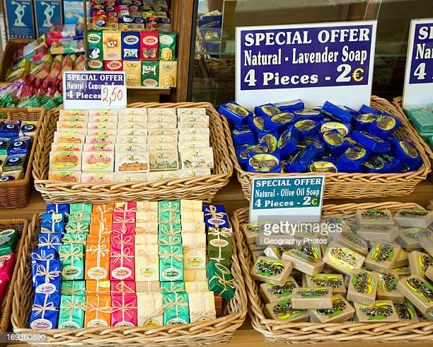 Range of local soaps for sale Rhodes Greece