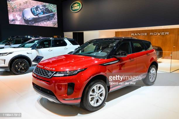 Range Rover Evoque P200 S crossover SUV on display at Brussels Expo on January 9 2020 in Brussels Belgium The Evoque is available with a petrol or...