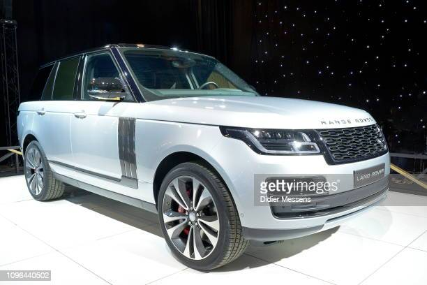 Range Rover from the brand Land Rover is exposed on the Dream Car Exhibition on January 17 2019 in B