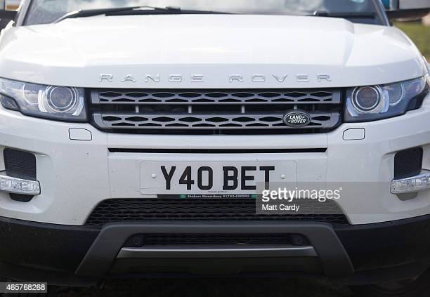 Range Rover is seen in the car park at Cheltenham Racecourse on the first day of the Cheltenham Festival on March 10 2015 in Cheltenham England...